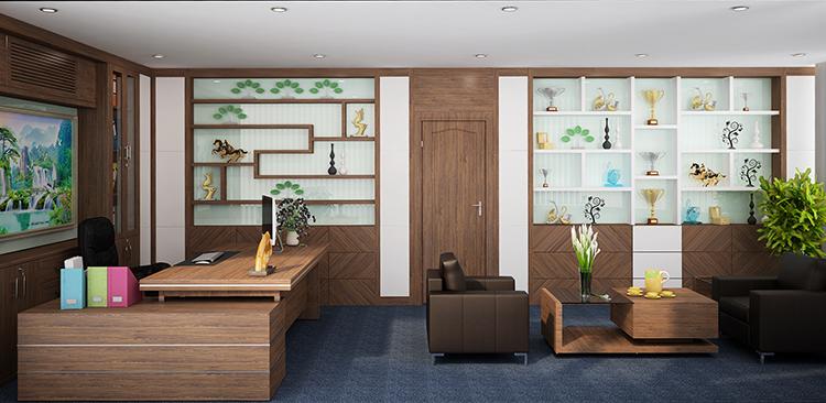 1494231539 noi that phong giam doc 1 - Thiết kế nội thất văn phòng đẹp ưng ý cho doanh nghiệp