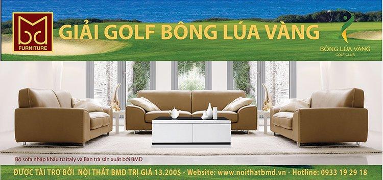 GIAI GOLD BONG LUA VANG 2 1 - Nội thất BMD – Nhà tài trợ của Giải Golf Bông Lúa Vàng Lần VII năm 2017