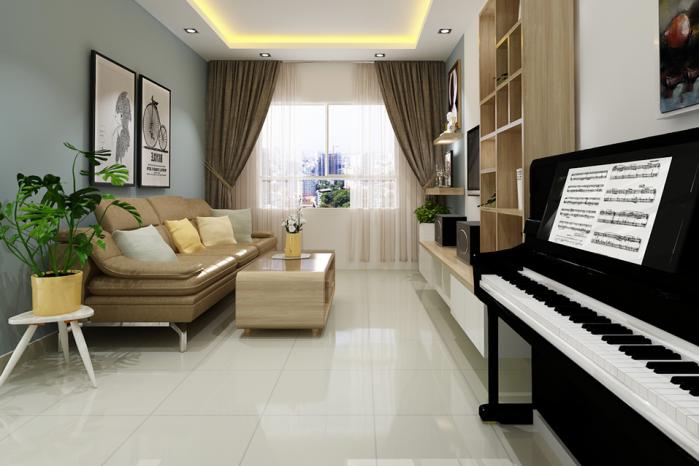 Nha c Thư chung cư city home e1520477161228 - Cách lựa chọn ghế sofa đẹp cho phòng khách nhỏ