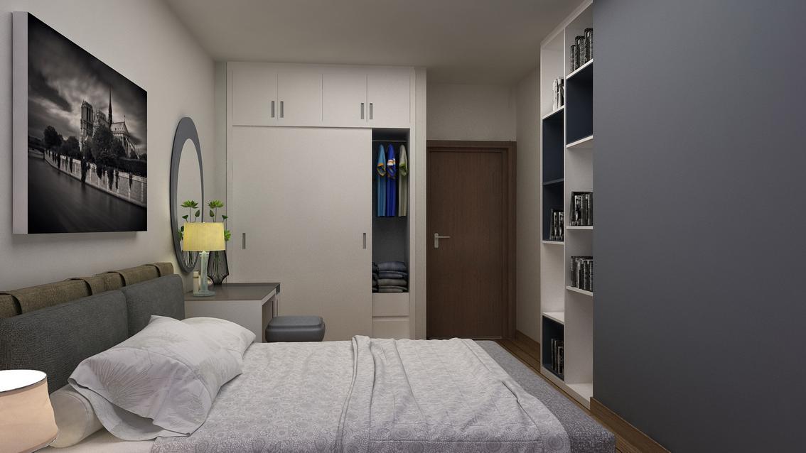 nha chu thoai 10 - Nội thất phòng ngủ - Lựa chọn tủ quần áo cho không gian hẹp