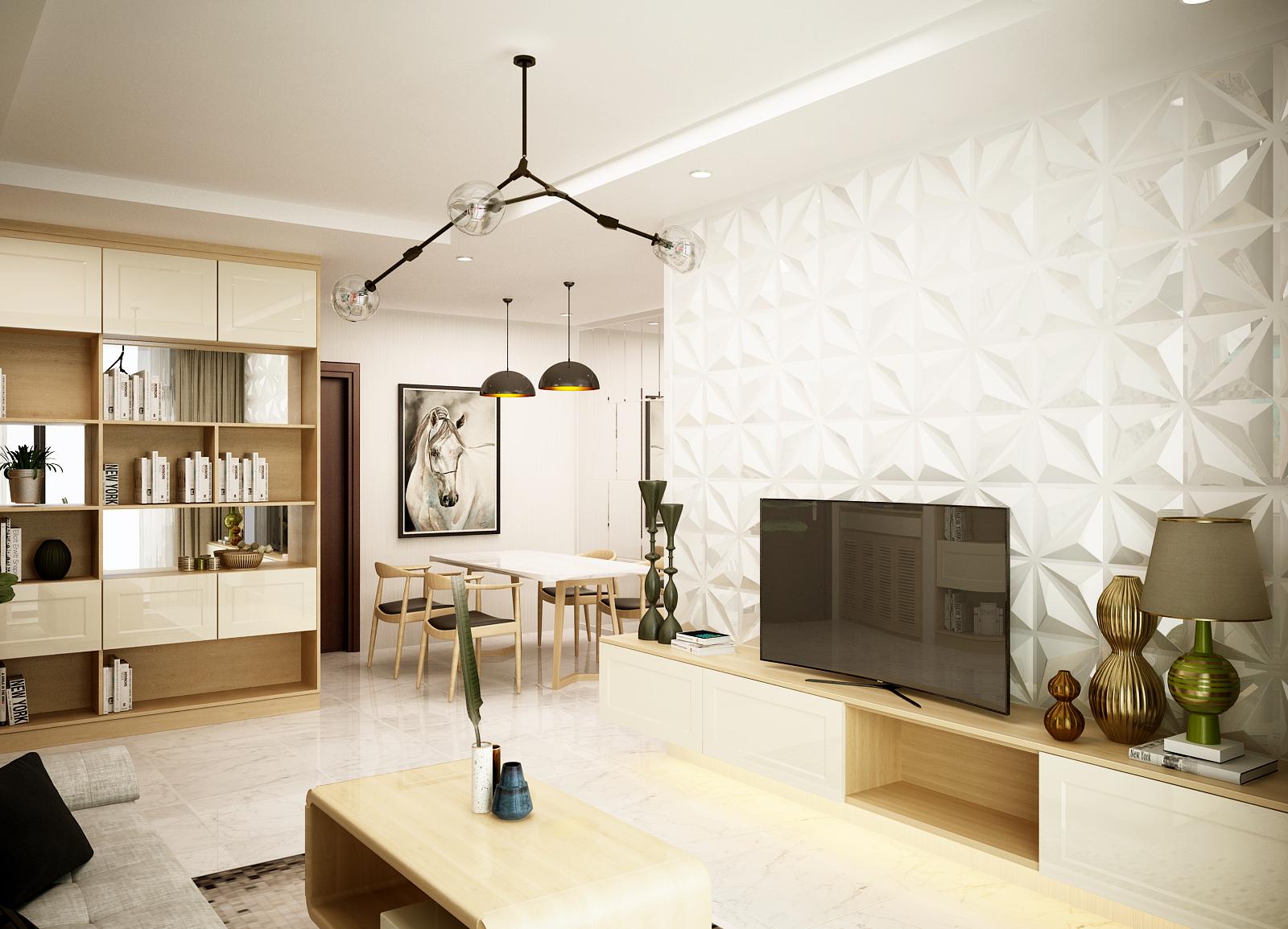 phong khach 4 1 - Nên lựa chọn chất liệu nào cho kệ tivi trong nội thất phòng khách?