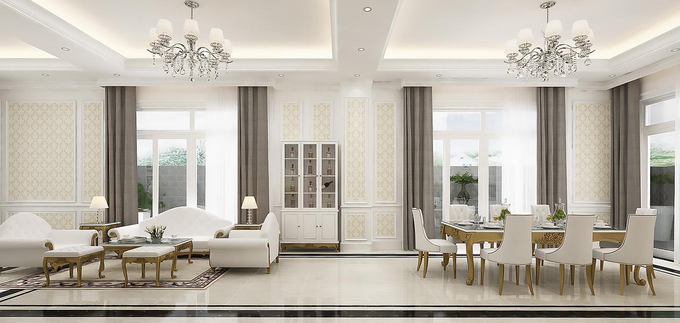 villa Anh Cung 1 - Thiết Kế Thi Công Nội Thất Villa Nhà Anh Cung